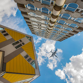 architecture Rotterdam,The Netherlands by Egon Zitter - Buildings & Architecture Homes ( building, sky, airplane, house, architecture, appartment )