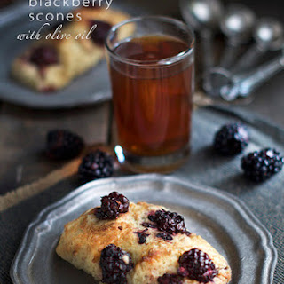 Balsamic Blackberry Scones with Olive Oil