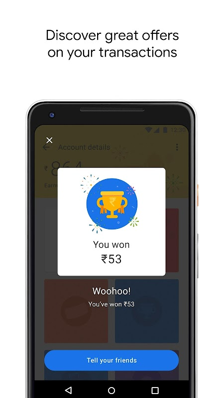 Google Pay (Tez) - a simple and secure payment app screenshots