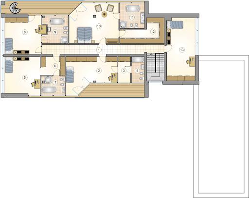 Alabaster - Rzut piętra