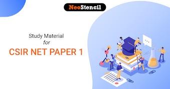 CSIR NET Paper 1 Study Material