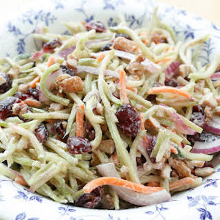 Sweet and Tangy Broccoli Slaw.