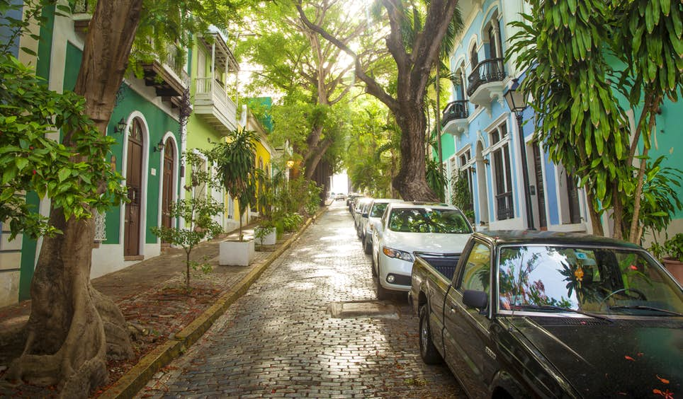 Iconic and enduring cobblestone streets run through the heart of Old San Juan © mikolajn / iStockphoto