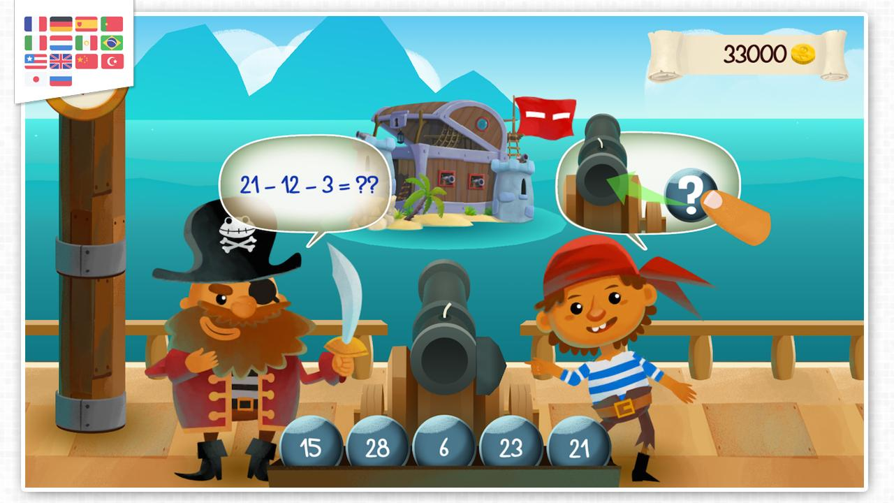 Captain Math - Arithmetic game- screenshot