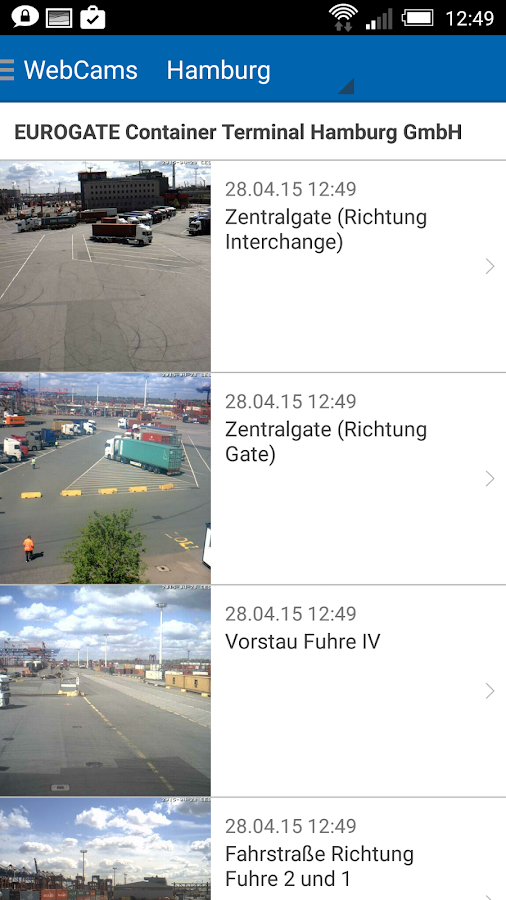 Infogate- screenshot
