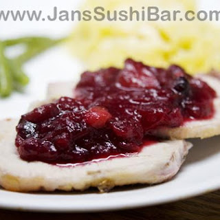 Roast Pork Loin With Spicy Cranberry-Wine Sauce