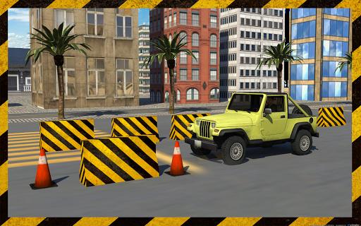 Heavy jeep parking simulator
