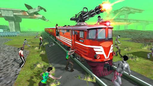 Train shooting - Zombie War apkpoly screenshots 1