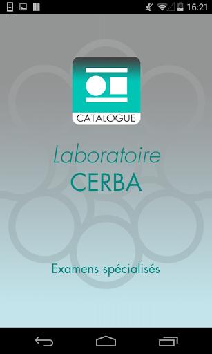Catalogue Cerba
