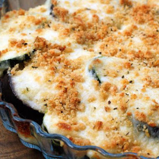 Baked Eggplant with Creamy Cheese Sauce