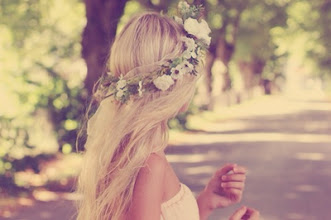 Photo: Romantic Flower Garlang on Blond Hair