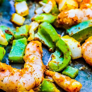 Sheet Pan Curry Shrimp Meal Prep Bowls.