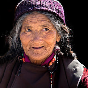 Golden Age by Jasminder Oberoi - People Portraits of Women ( old lady, woman, india, ladakh, tandi, portrait )