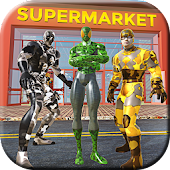 Army Superheroes City Supermarket Robbery Rescue