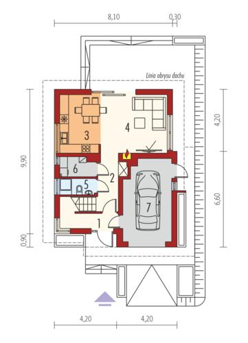 Julek II G1 Leca® Dom - Rzut parteru