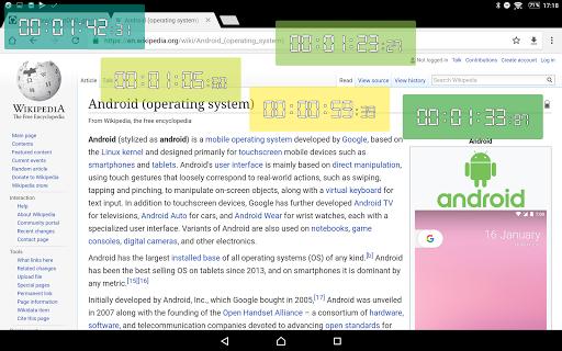 Floating Stopwatch, free multitasking timer 3.2.7 screenshots 13