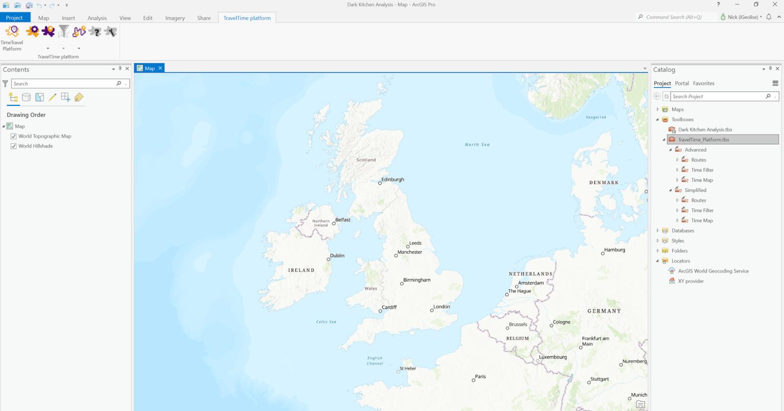 TravelTime ArcGIS plugin