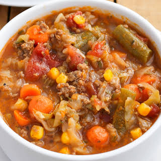 Ground Beef and Cabbage Soup.