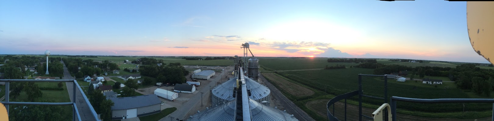 From the top of the grain elevator in Chokio, MN