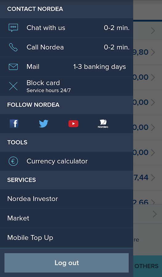 Nordea Mobile Bank – Sweden- screenshot