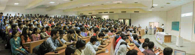 Photo: a Guest Lecture by Jayaprakash Narayan, founder of Lok Satta Party