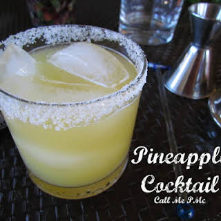 Tequila Pineapple Cocktail.
