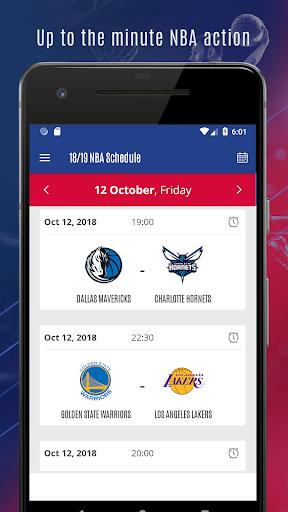 2018 NBA schedule, scores and reminder 1.0 screenshots 2