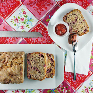 Honey, Rhubarb & Strawberry Bread Recipe