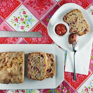 Honey, Rhubarb & Strawberry Bread.