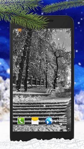 android Schnee Live-Hintergründe Screenshot 7
