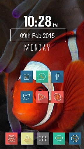 红色的小鱼主题