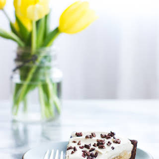 Rum-Kissed Banana Butterscotch Cream Tart in a Cocoa-Buckwheat Crust {Gluten-Free}.