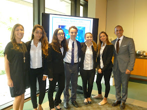 Photo: Florida Euro Challenge Competition 2016 Recognition & Awards Ceremomy Federal Reserve Bank of Atlanta - Miami Branch - April 1st, 2016 International Studies Preparatory Academy students with Teacher Elisa Oliverio, and Principal Alejandro Perez