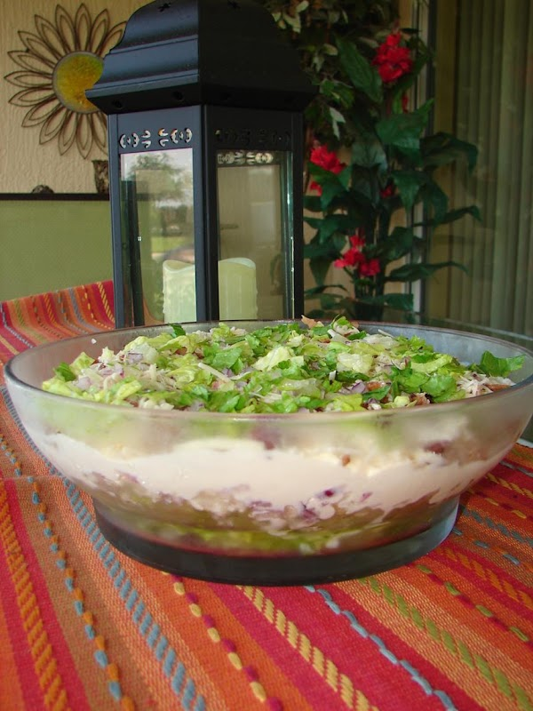 Layered Cauliflower Salad Recipe