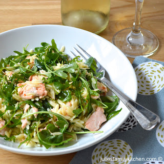 Salmon Orzo Salad.