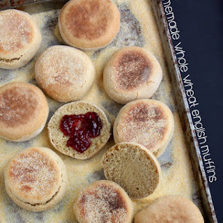 Homemade Whole Wheat English Muffins.