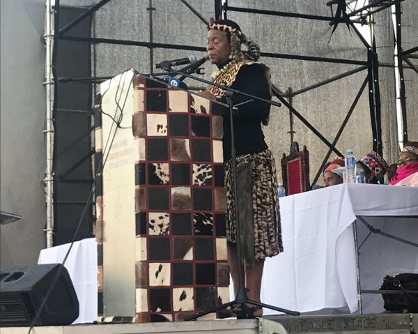 King Goodwill Zwelithini at the recent land summit.