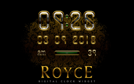 ROYCE Digital Clock Widget app for Android screenshot