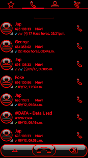 THEME SWIPE DIALER GLOW RED - náhled