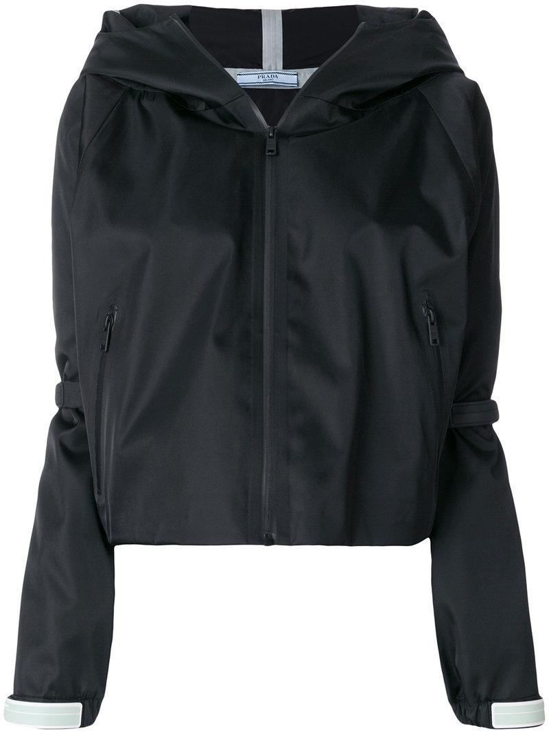 prada-black-Front-Zip-Hooded-Jacket