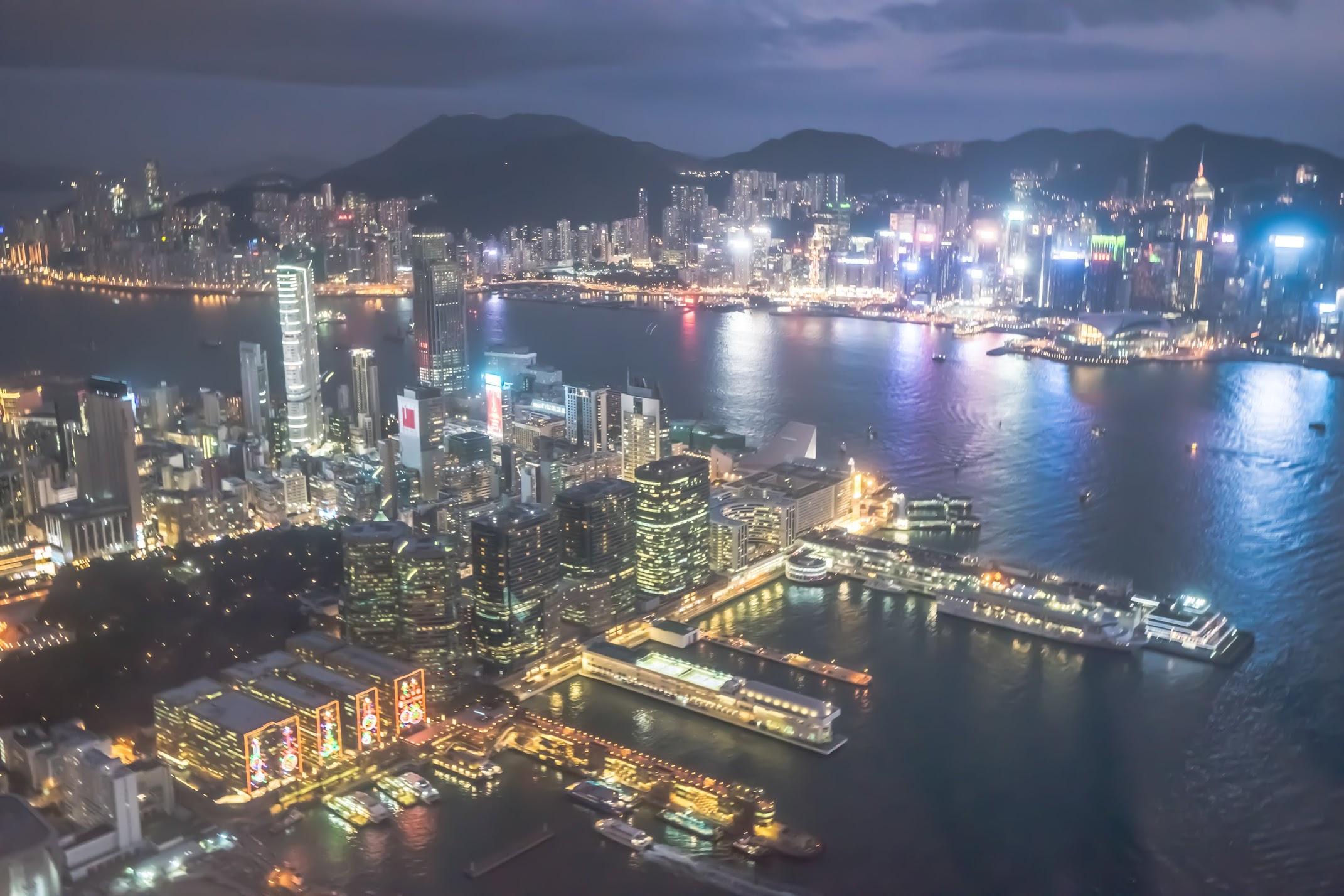 香港 スカイ100(sky100) 夜景1