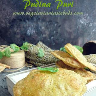 Pudina Puri | Mint Leaves Puri.