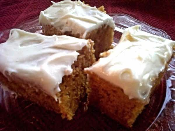 Spiced Pumpkin Cake With Cream Cheese Icing