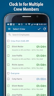 ClockShark - Time Clock App - náhled