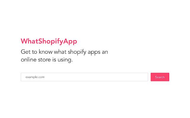 WhatShopifyApp - Lookup Shopify Apps