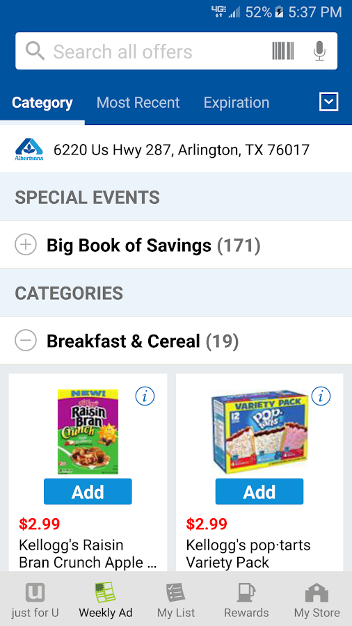 Albertsons- screenshot
