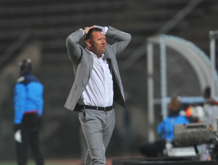 Eric Tinkler coach of Chippa United during the Absa Premiership match between Supersport United and Chippa United on the 29 August 2018 at Lucas Moripe Stadium.