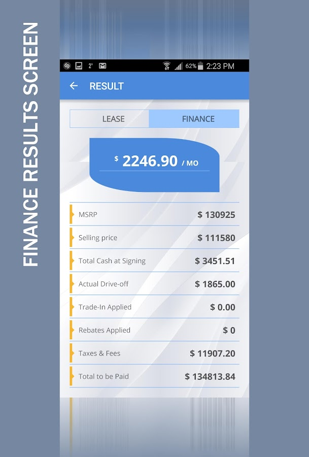 Car Lease Payment Calculator - Android Apps On Google Play