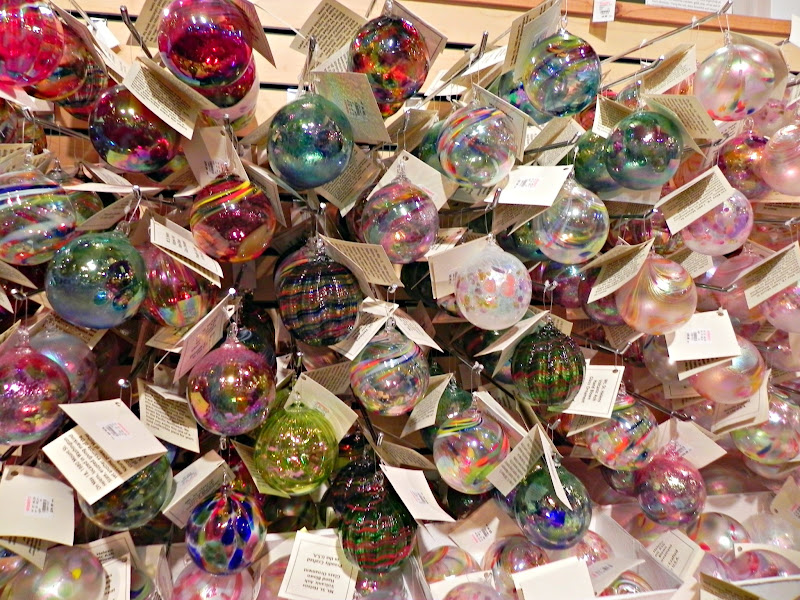 Photo: These Mount St. Helen's glass ornaments are each hand-blown! Slightly more expensive than other glass ornaments, but each one is unique.