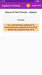 Algebra Formulas – Apps bei Google Play